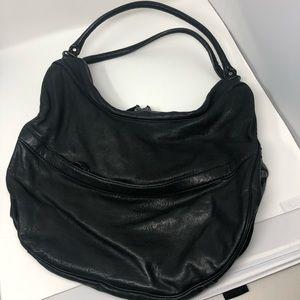 GAP black leather hobo